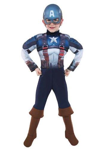 nuovo stile di codici promozionali acquista per genuino Costume Capitan America Bambino 3 con Muscoli Taglia S (3-5 ...