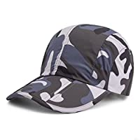 GADIEMKENSD Breathable Quick Dry Camo Hat with Folding Brim for Running Fishing