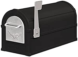 Salsbury Industries 4855E-BLS Eagle Rural Mailbox, Black/Silver Eagle