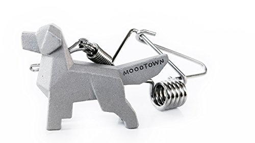 (MOODTOWN Handcrafted Stainless Steel Dog Key Chain (Golden Retriever) - Available in 15 Different Breeds)