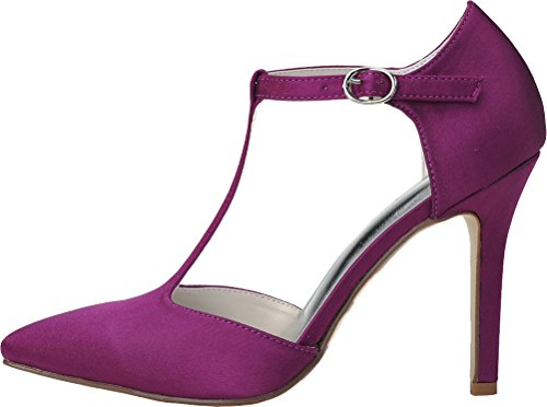 Job 09 Wedding Pointed Dress Toe Satin bar Work Simple Pumps Salabobo Bride 0608 Ol Heeled Nightclub Purple Ladies T BAwqqfz1