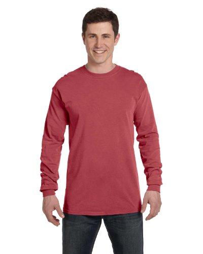Comfort Colors Ringspun Garment-Dyed Long-Sleeve T-Shirt (C6014)- BRICK, XL from Comfort Colors