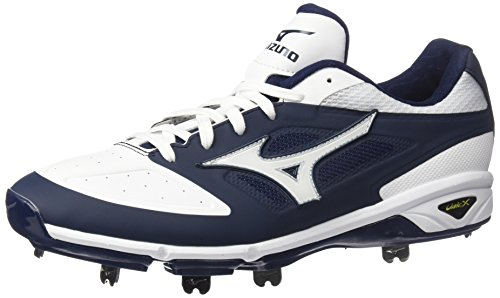 Mizuno Mens Dominant Ic Baseball Shoe Navy White
