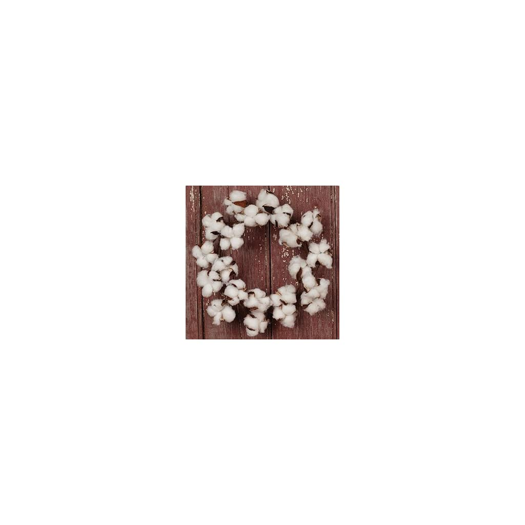 The-Country-House-Collection-MINI-Cotton-Boll-Floral-Wreath-11-Outer-Diameter