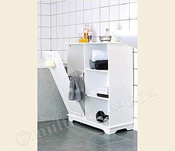 Badezimmerschrank Wandschrank Holz Weiß