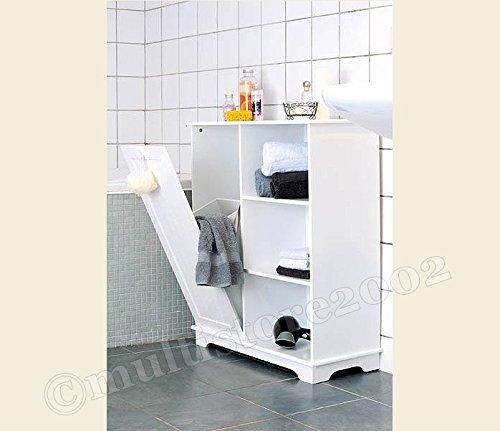 Badezimmerschrank Wandschrank Holz Weiß: Amazon.de: Küche & Haushalt