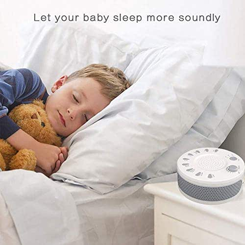 LQ-RLL Sleep Therapy Device Sound Machine Sleep, White Noise Machine for Babies and Adults, Sleep and Noise Canceling, Home, Office