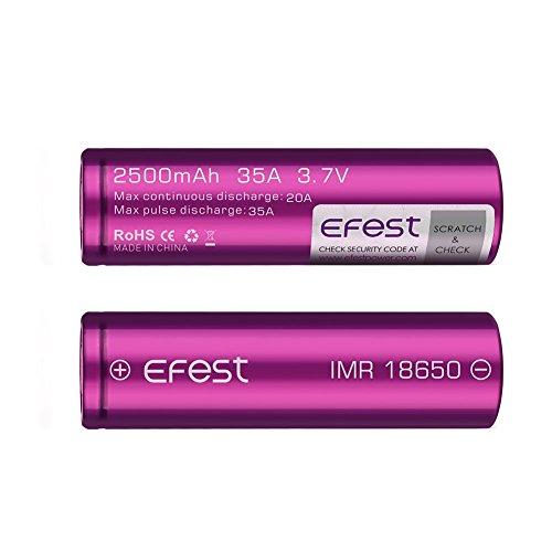 Efest Purple 18650 Rechargeable Batteries product image
