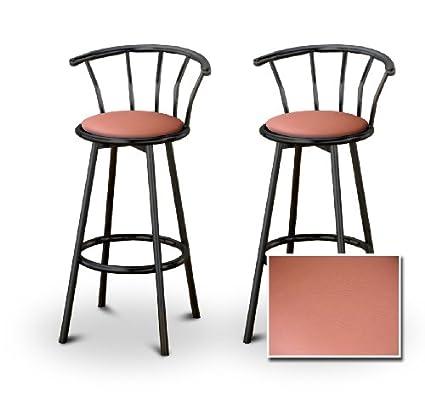 Superb Amazon Com Set Of 2 Metal Swivel Barstools 24 Black Metal Creativecarmelina Interior Chair Design Creativecarmelinacom
