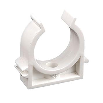 25mm Abrazadera de tubo en forma de U Abrazadera de tubo de agua pl/ástica Clips fijos Soporte de soporte con tornillos