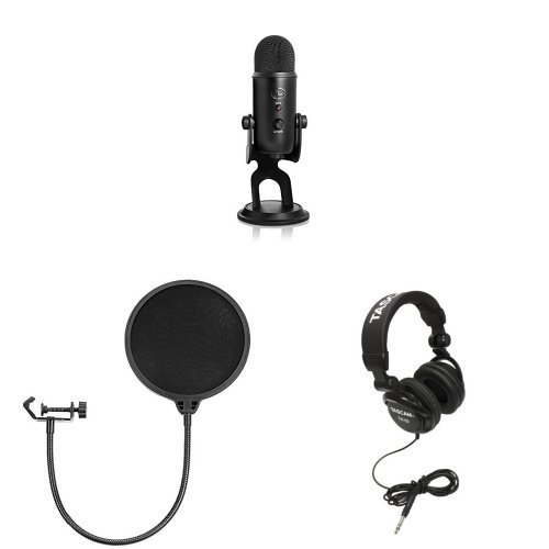 Micrófono USB Blue Yeti - Blackout Edition - Studio Bundle