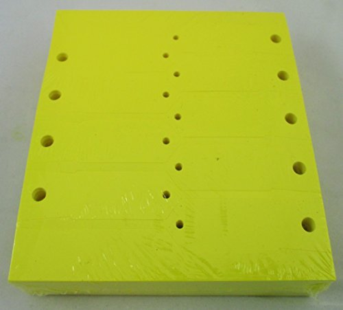 YELLOW Self-Locking Arrow Key Tags (1,000 per pack) Size 4 1/2