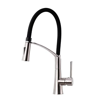 CREA Modern Kitchen Faucet, Stainless Steel Single Handle Pull Down Sprayer  Kitchen Faucet Basin Sink Mixer Tap Brushed Nickel