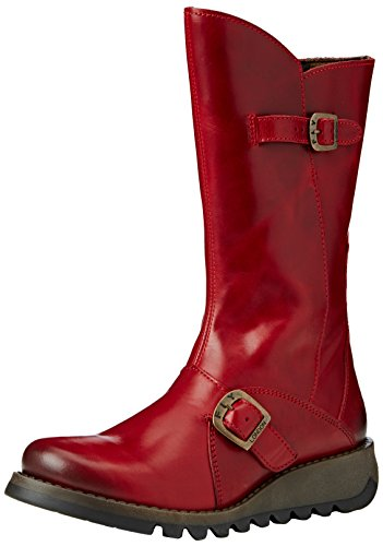 red Femme 001 Hauts Rouge 2 Mes Fly Bottes London w7aaq0