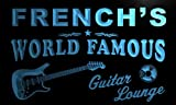 pf1442-b FRENCH's Guitar Lounge Beer Bar Pub Room Neon Light Sign