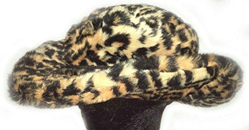 Jaguar Club Cowboy Cheetah Animal Print Pimp Costume Furry Adult Fuzzy Party Hat