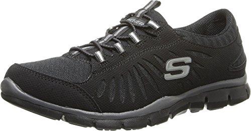 Skechers Sport Women's Gratis-In Motion Wide Fashion Sneaker, Black, 7 M - The Running In Black