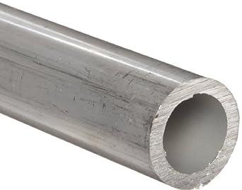 "Aluminum 2024-T3 Seamless Round Tubing, WW-T 700/3, 1.5"" OD, 1.43"" ID, 0.035"" Wall, 12"" Length"