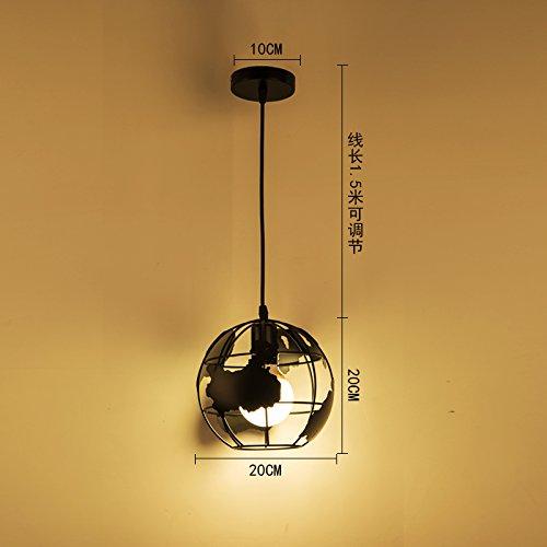 LuckyLibre Pendentif mode moderne de création d'éclairage Lampe Lustre Chambre Salon Cuisine,le Vert noir-lumière Q
