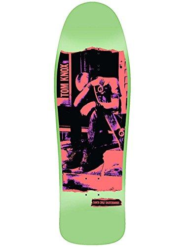 Santa Cruz Knox Punk Reissue Skateboard Deck Neon Ink/Mint Dip 9.98in x 31.66in