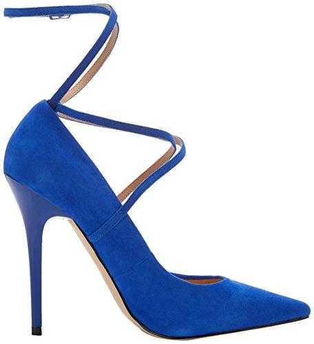 WoMen Ankle Office Hilda Suede Strap Blue Heels Blue ZBpUqxFdwU