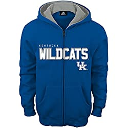 NCAA Kentucky Wildcats Boys Stated Full Zip Hoodie, Small (8), Collegiate Royal