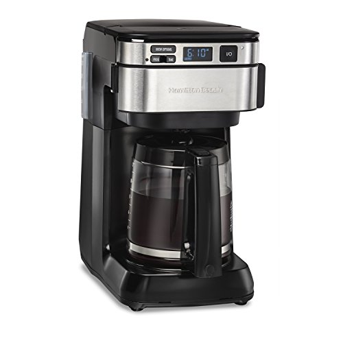 Hamilton Beach Programmable Coffee Maker, 12 Cups, Front Access Easy Fill, Pause & Serve, 3 Brewing Options, Black (46310) (5 Cup Programmable Coffee Maker)