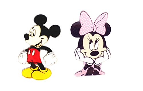 Disney's Mickey and Minnie Mouse Character Acrylic Lapel Pin (Mickey and Minnie) Acrylic Pins