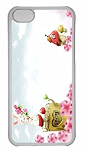 Customized iphone 5C PC Transparent Case - Spring Season 6 Personalized Cover