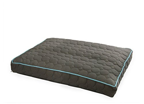 Casual Dog Couch (EZ Living Home Water Repellent Circle Quilted Pillow Bed M 27x36x4 Grey)