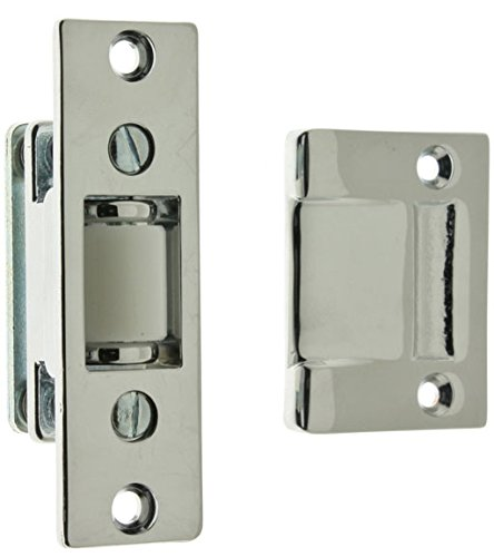 (IDHBA idh by St. Simons 12017-026 Premium Quality Solid Brass Heavy Duty Silent Roller Latch with Adjustable Square Strike, Polished Chrome)