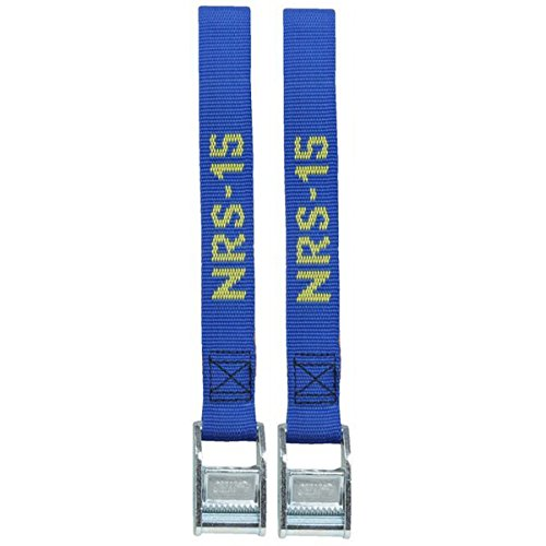 NRS 1-Inch Heavy-Duty Tie-Down Straps, Blue (15-Foot)- Pair