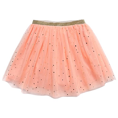 (bbhoney Little Girls layered Tutu Skirt Dance Birthday Ballet Tulle Dress up (2T/3T, Star Pink))