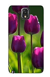 897004f4008 Case Cover Purple Tulips Compatible With Galaxy Note 3 Protective Case