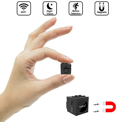 Spy Camera Wifi, Conbrov WF98 960P Mini Wireless Hidden Camera Body Camera Video Recorder with Motion Detection and Night Vision for Home Security, Support Max 128GB (NO SD CARD INCLUDED) - Digital Motion Detection Video Recorder
