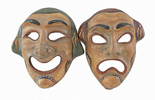 Ancient Greek theatrical Commedy Tragedy mask set quality artifacts Talos Artifacts