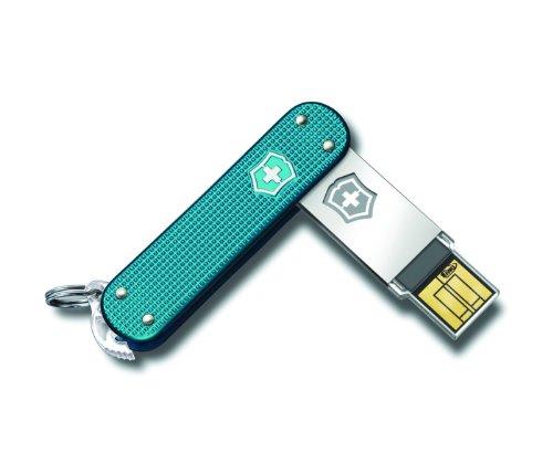 Victorinox Slim 2.0 USB Flash Drive, 64-GB, Blue
