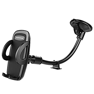 Mpow Car Phone Mount, Windshield Cell Phone Holder for Car with Long Arm Car Phone Mount for iPhone X/8/7/7Plus/6s/6Plus/5S, Galaxy S5/S6/S7/S8, Google, LG, Huawei and More