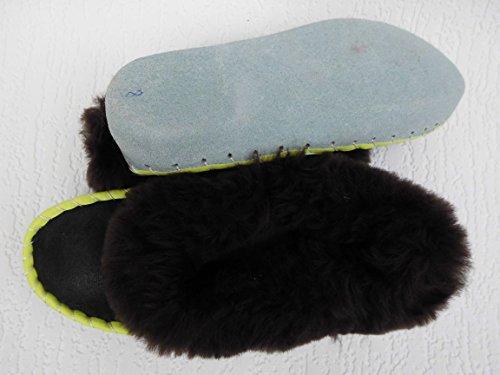 LAMMFELL Warme HAUSSCHUHE Gr.38 NEU, Schaffell/-leder (Made in Poland 21.10.3.87.04A18)
