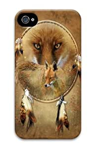 Dreamcatcher Fox Polycarbonate Hard Case Cover for iPhone 4/4S 3D by icecream design