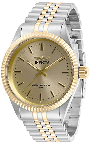 Invicta Men's Specialty Gold-Tone Steel Bracelet & Case Quartz Champagne Dial Analog Watch 29382