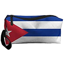 WEEDKEYCAT Cuba Flag National Travel Cosmetic Bag Pen Pencil Portable Toiletry Brush Storage,Multi-function Accessories Sewing Kit Bags Pouch Makeup Carry Case With Zipper