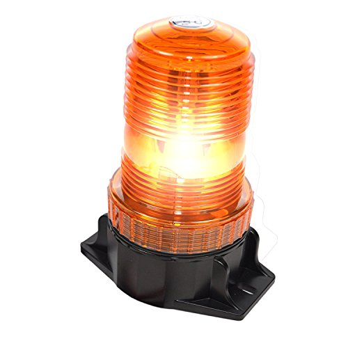 HQRP 30-LED 360 Degrees Mini Beacon Amber Warning Strobe Light for Cushion Forklift Toyota 7FGCU70 / 8FGCSU20 / 8FGCU15 / 8FGCU18 / 8FGCU20 / 8FGCU25 / 8FGCU30 / 8FGCU32 plus HQRP Coaster