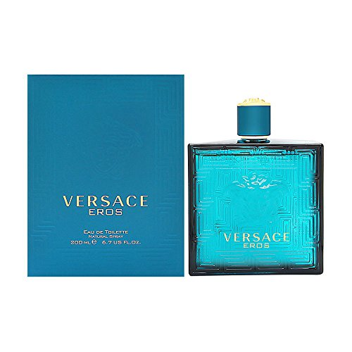 Versace Eros Men Eau De Toilette Spray, 6.7 Fluid Ounce -