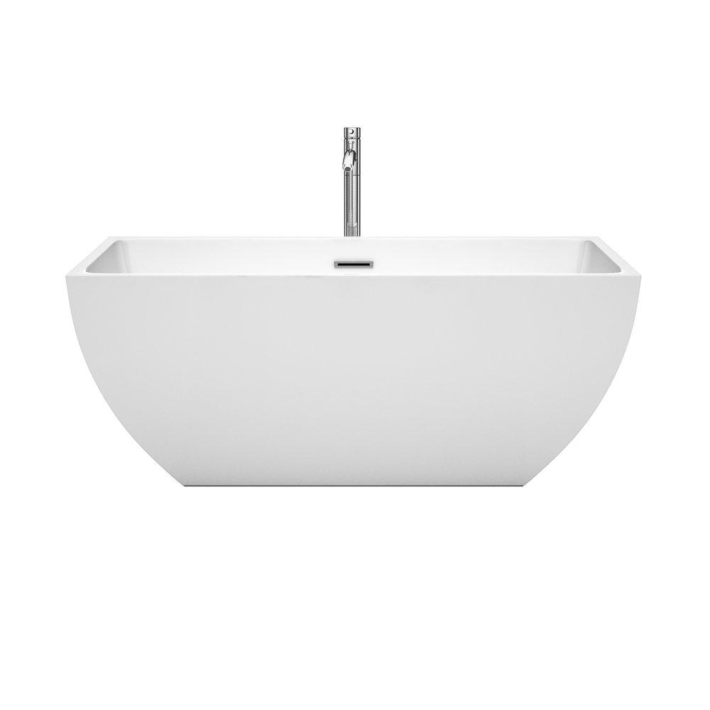 Wyndham Collection Rachel 59 inch Freestanding Bathtub for Bathroom ...
