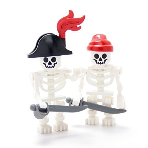 Pirates Caribbean Skeleton - LEGO Collectible Minifigures 2011 Series PIRATE SKELETONS (Set of 2 - Loose)