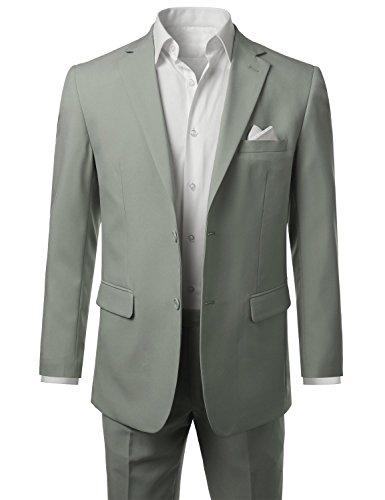 AK Beauty Men's Suit Two-piecce Best Man Suit Jacket and Pants (XXXXXL, Light Grey) by AK Beauty