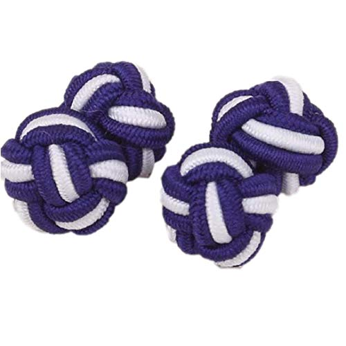 2 Pairs Cuff Links Shirt Cufflinks DIY Braided Wire Buckle Rope Knot Cuff Link(Random - Mens Cufflinks Braided
