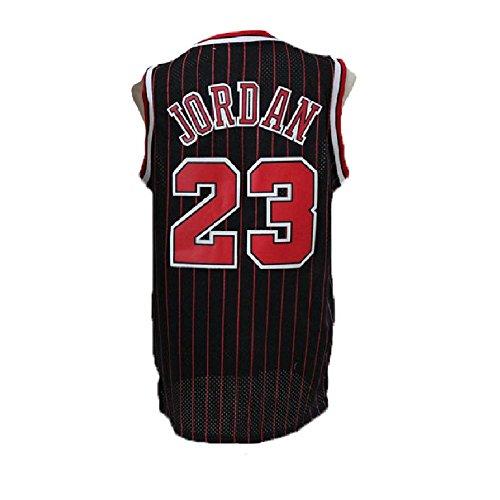 meetziis Men's #23 Basketball Jerseys Retro Jersey Black(S-XXL) - Authentic Jordan Jersey Michael