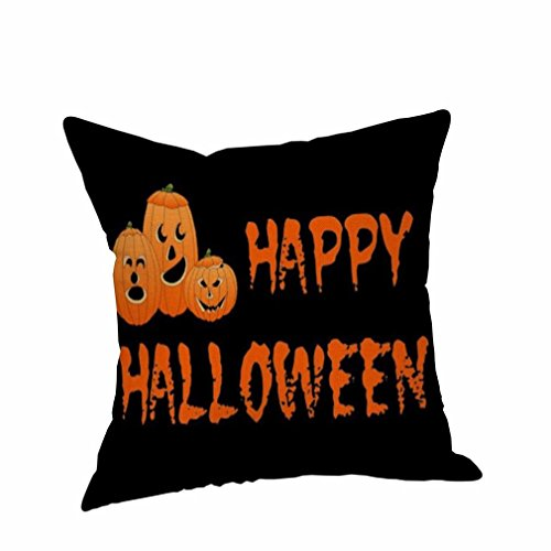 Halloween Pillow Case, Winhurn Funny Ghost Linen Sofa Cushions Home Decoration (45 Grave Halloween)